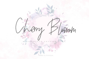 Cherry Blossom Script & Handwritten Font By Chocotype