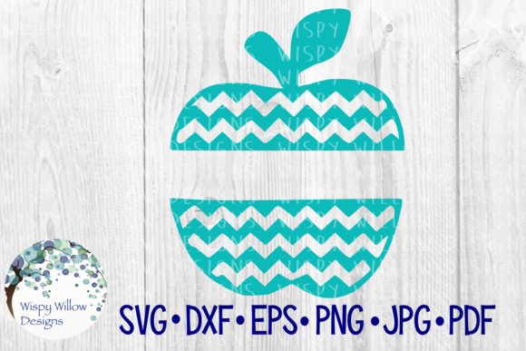 Download Free Chevron Apple Teacher Gift Cut File Graphic By for Cricut Explore, Silhouette and other cutting machines.