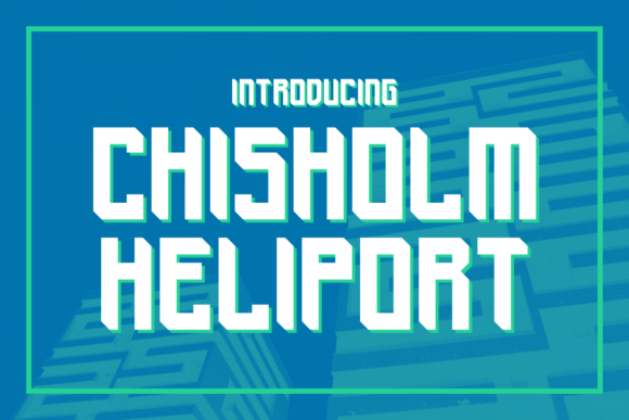 Print on Demand: Chisholm Heliport Display Font By Chequered Ink - Image 1