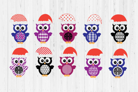 Download Free 1 Christmas Owl Svg Designs Graphics for Cricut Explore, Silhouette and other cutting machines.