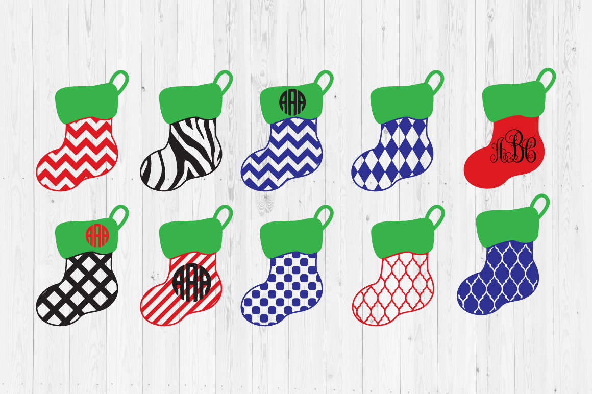 Download Free Christmas Stocking Cut Files Graphic By Cutperfectstudio for Cricut Explore, Silhouette and other cutting machines.