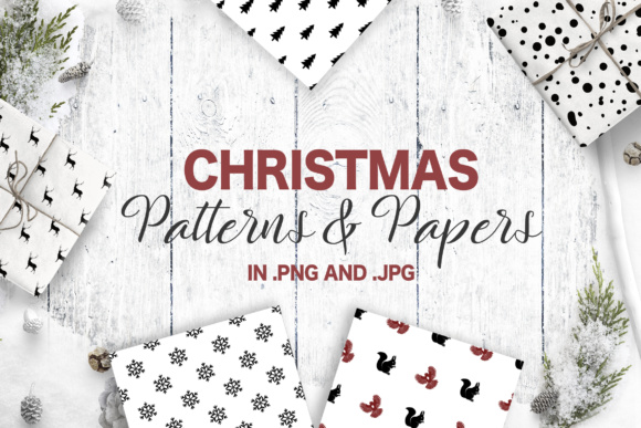 Christmas Seamless Patterns Graphic By switzershop