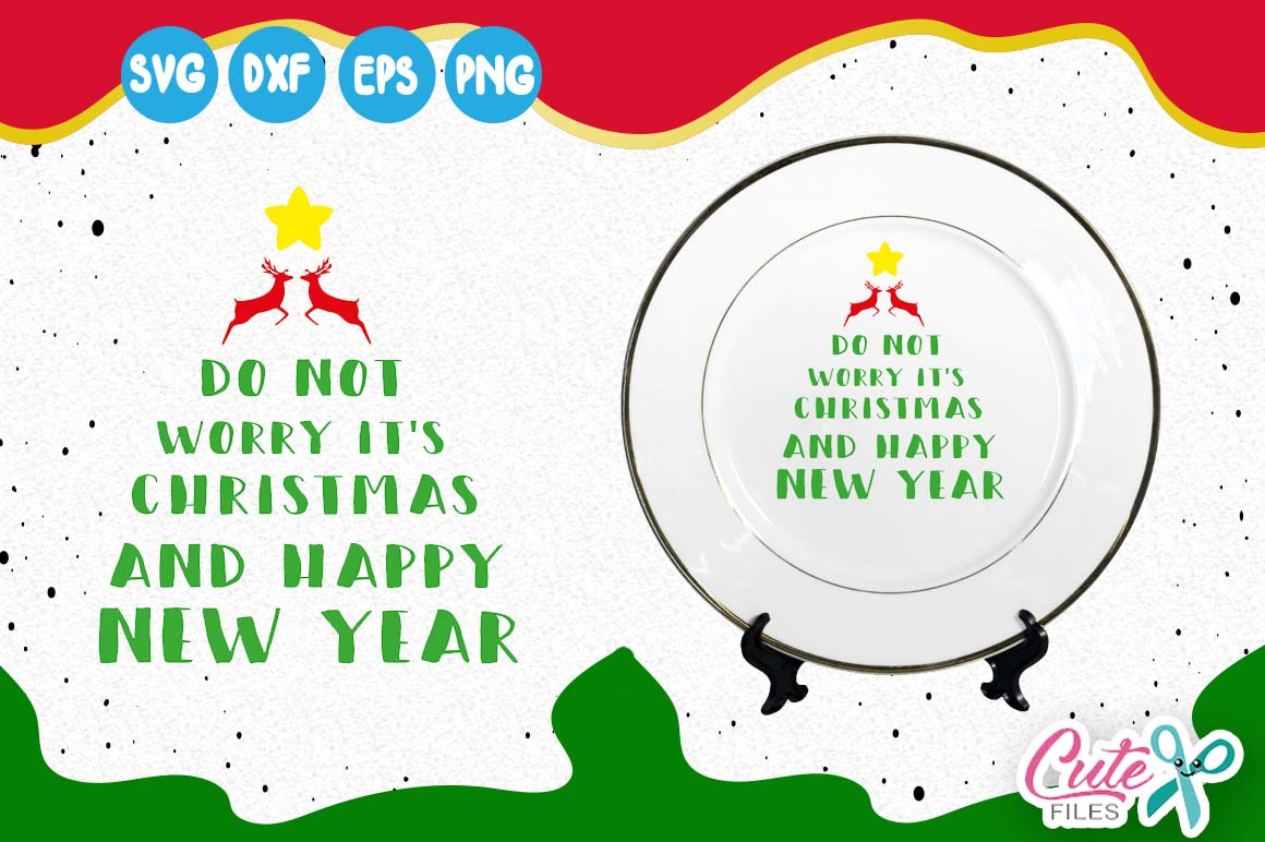 Download Free Christmas Tree Reindeer It S Christmas Happy New Year Svg for Cricut Explore, Silhouette and other cutting machines.