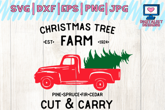 Download Free Christmas Truck Farm Fresh Trees Svg Graphic By for Cricut Explore, Silhouette and other cutting machines.