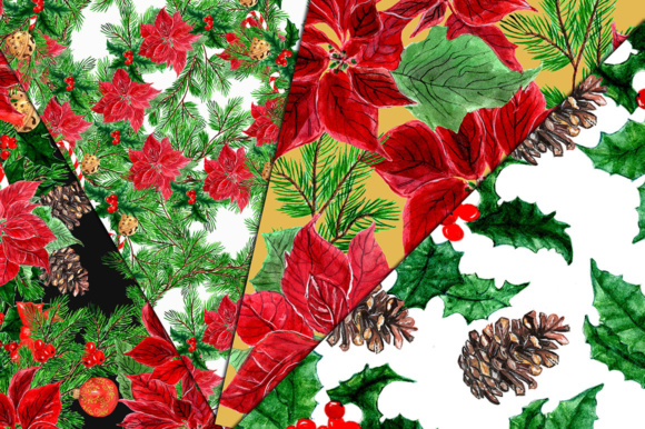 Download Free Hand Painted Christmas Wreaths And Floral Designs Graphic By for Cricut Explore, Silhouette and other cutting machines.