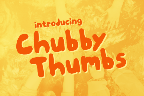Print on Demand: Chunky Thumbs Display Font By Chequered Ink