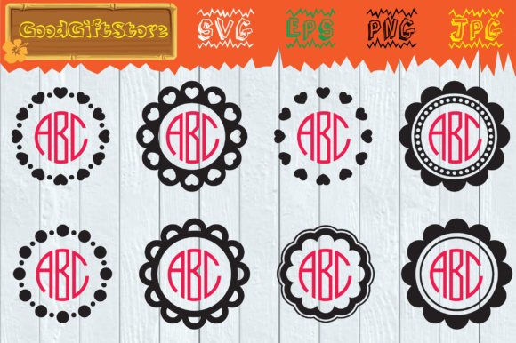 Download Free Circle Monogram Frame Svg Graphic By Piedesigner Creative Fabrica SVG Cut Files