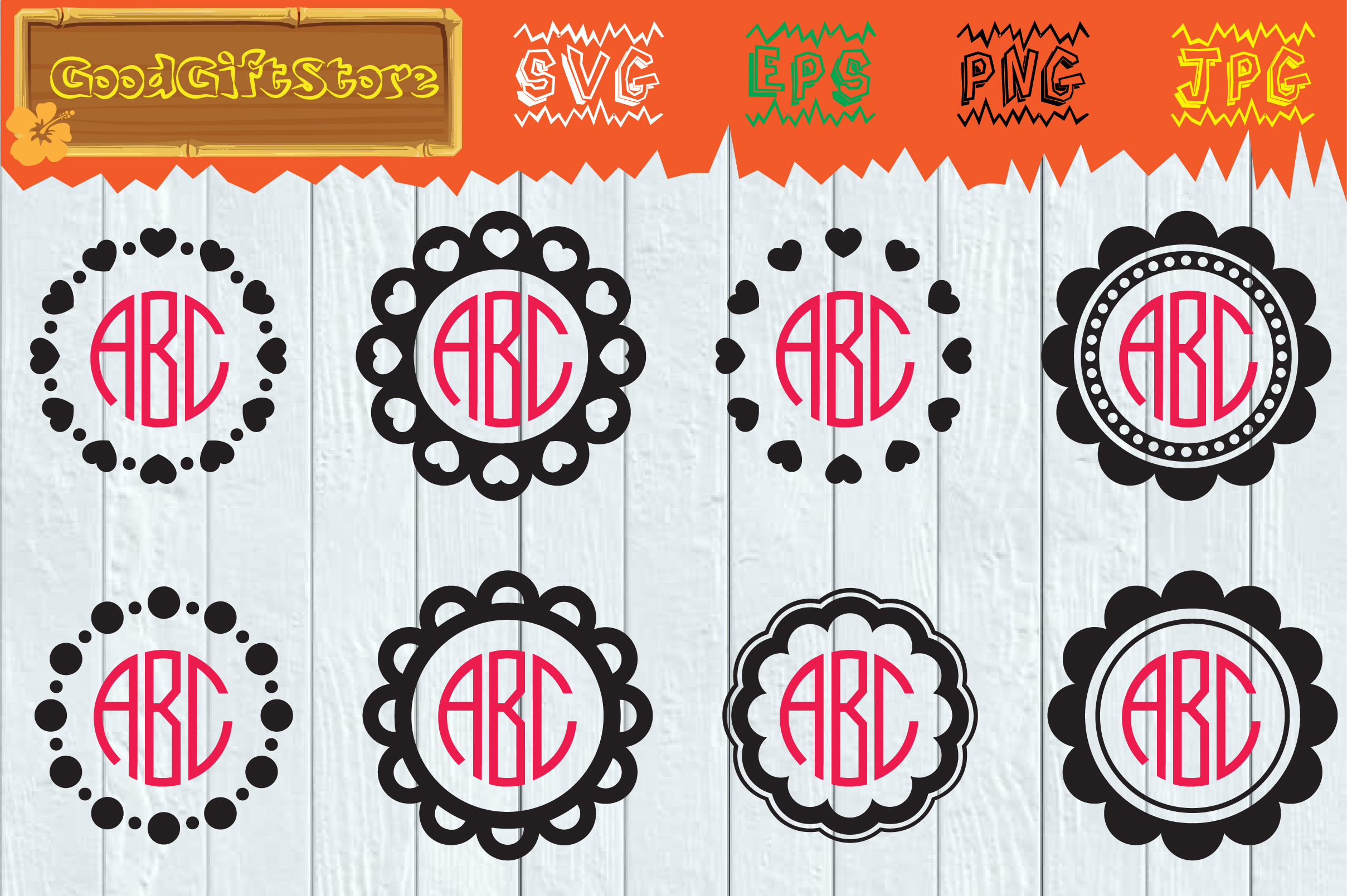 Download Free Circle Monogram Frame Svg Graphic By Piedesigner Creative Fabrica for Cricut Explore, Silhouette and other cutting machines.