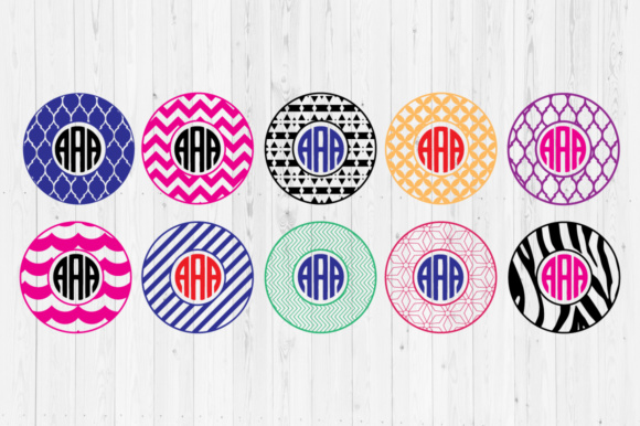 Download Free Circle Monogram Cut Files Graphic By Cutperfectstudio Creative for Cricut Explore, Silhouette and other cutting machines.