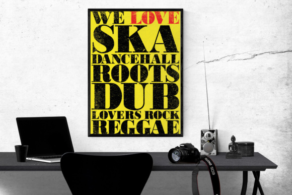Print on Demand: Classic Reggae Music Lovers Old Style Poster Graphic Crafts By GraphicsBam Fonts