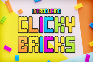 Clicky Bricks Display Font By Chequered Ink