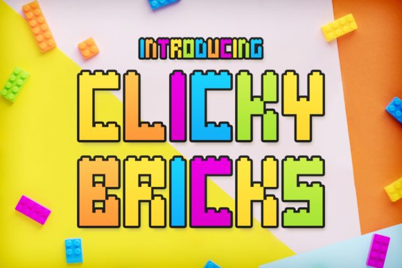 Print on Demand: Clicky Bricks Display Font By Chequered Ink