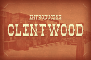 Print on Demand: Clintwood Display Font By Chequered Ink