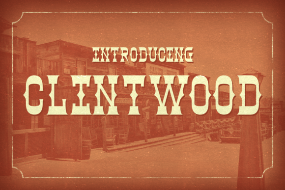 Clintwood Display Font By Chequered Ink