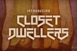 Print on Demand: Closet Dwellers Display Font By Chequered Ink