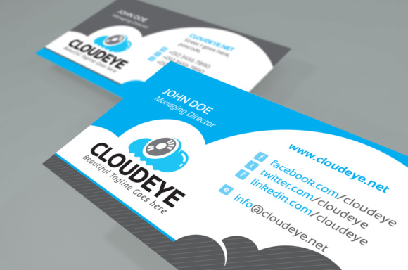 Cloud Business Card Graphic Print Templates By KitCreativeStudio - Image 2