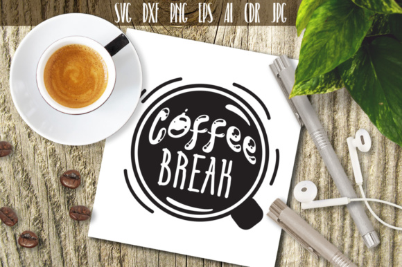 Download Free Coffee Break Cutting File Grafico Por Vector City Skyline for Cricut Explore, Silhouette and other cutting machines.