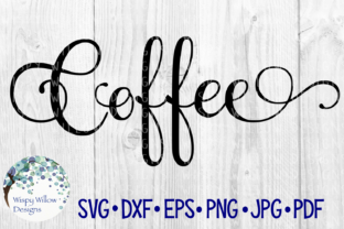 Download Free Coffee Elegant Scroll Label Cut File Graphic By for Cricut Explore, Silhouette and other cutting machines.