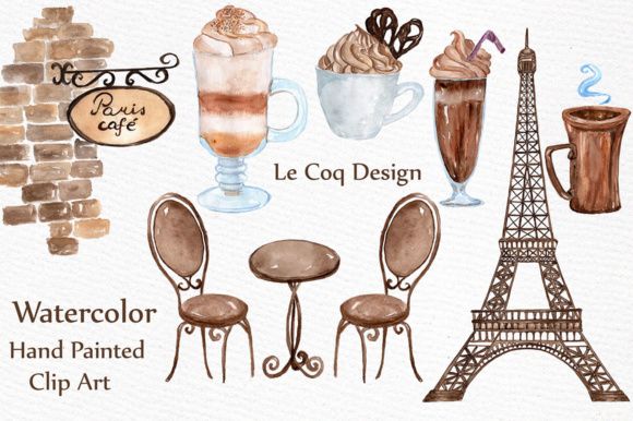 Download Free Coffee Clipart Graphic By Lecoqdesign Creative Fabrica for Cricut Explore, Silhouette and other cutting machines.