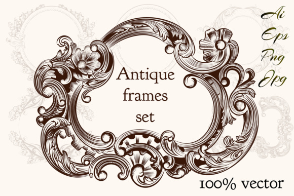 Download Free Collection Of Vintage Vector Hand Drawn Frames Graphic By for Cricut Explore, Silhouette and other cutting machines.