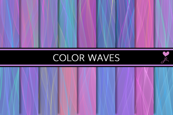 Print on Demand: Color Waves Graphic Textures By JulieCampbellDesigns