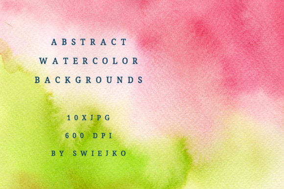 Print on Demand: Colorful Watercolor Ombre Background Graphic Illustrations By swiejko