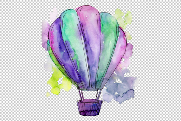 Download Free Colorful Hot Air Balloon Set Graphic By Mystocks Creative Fabrica for Cricut Explore, Silhouette and other cutting machines.