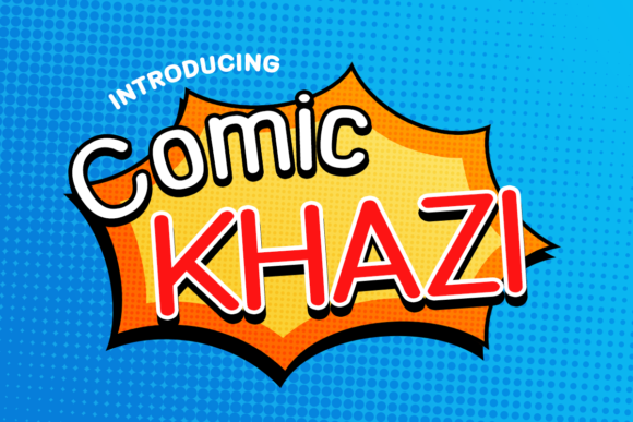 Print on Demand: Comic Khazi Display Font By Chequered Ink - Image 1