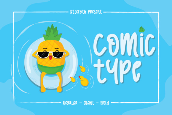 Print on Demand: Comic Type Display Font By Atjcloth Studio