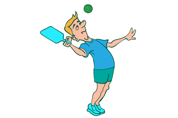Download Free Comical Character Who Is Playing Pickleball Svg Cut File By for Cricut Explore, Silhouette and other cutting machines.