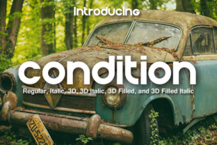 Condition Display Font By vladimirnikolic