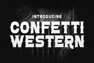 Print on Demand: Confetti Western Display Font By Chequered Ink