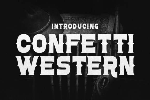 Print on Demand: Confetti Western Display Font By Chequered Ink - Image 1