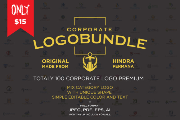 Corporate Logo Bundle Graphic By Ndroadv Image 1