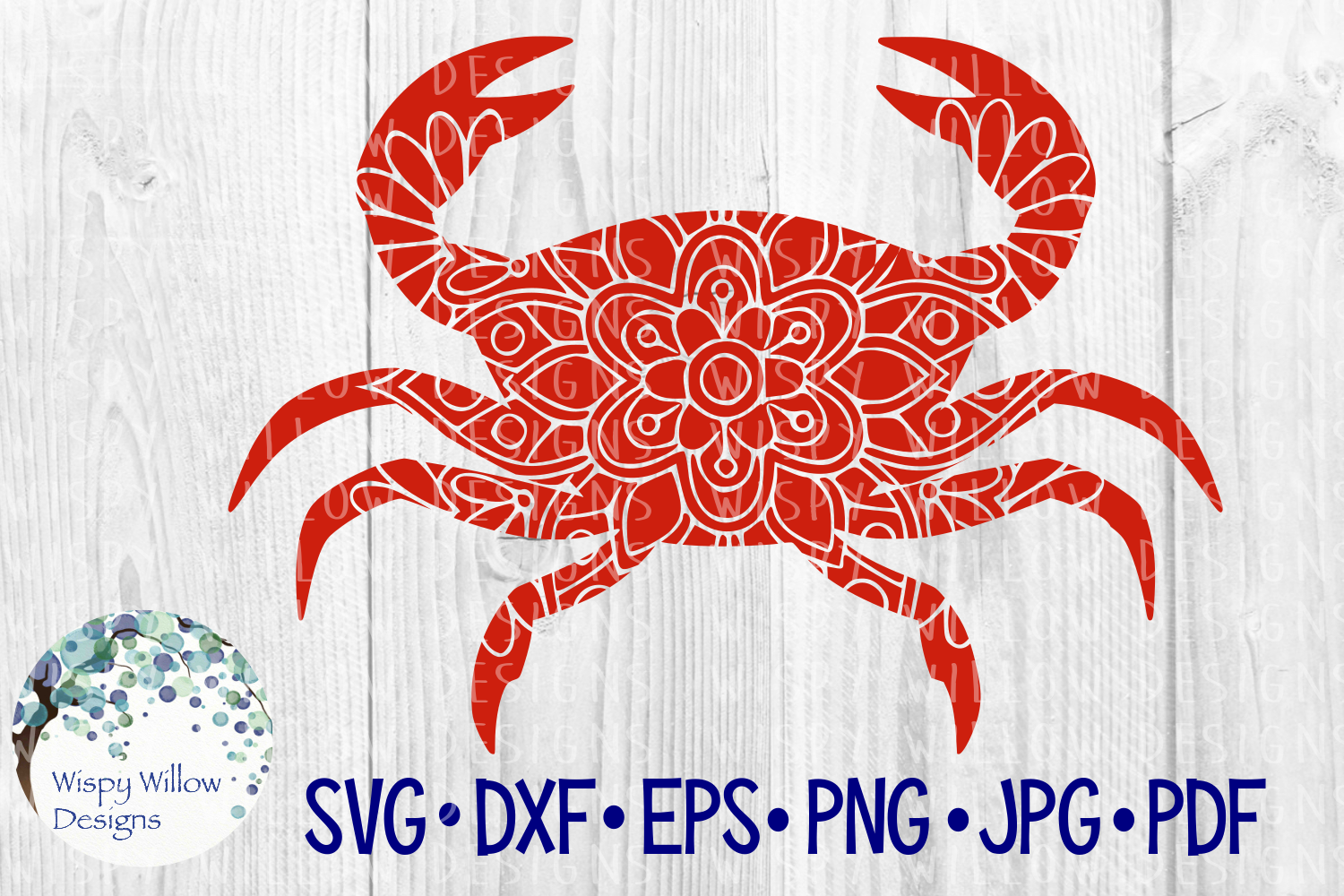 Download Free Crab Floral Mandala Summer Beach Sea Ocean Nautical Cut File for Cricut Explore, Silhouette and other cutting machines.