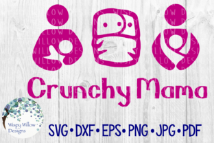 Download Free Crunchy Mama Cloth Diaper Breastfeeding Baby Wearing Mother for Cricut Explore, Silhouette and other cutting machines.