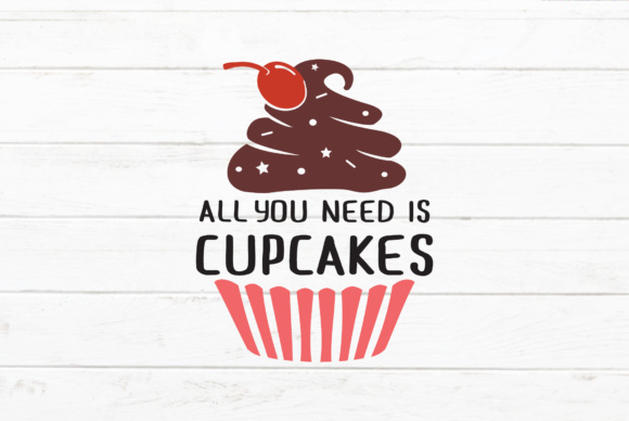 Download Free Cupcakes Quotes Graphic By Great19 Creative Fabrica for Cricut Explore, Silhouette and other cutting machines.