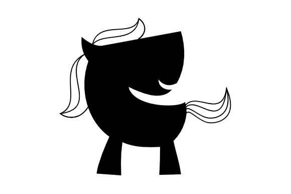 Download Free Cute Horse Silhouette Svg Graphic By Harisprawoto Creative Fabrica for Cricut Explore, Silhouette and other cutting machines.