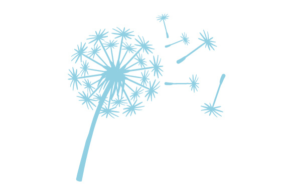 Dandelion Flower Nature & Outdoors Craft Cut File By Creative Fabrica Crafts