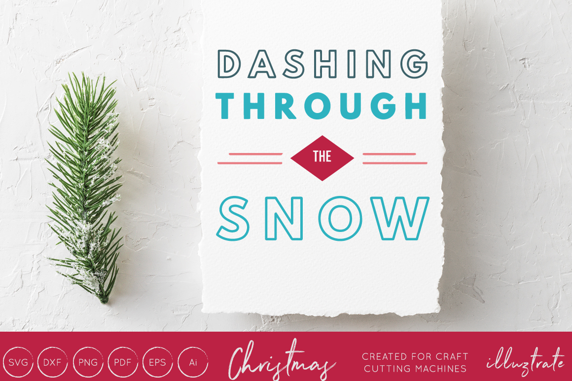 Download Free Dashing Through The Snow Graphic By Illuztrate Creative Fabrica SVG Cut Files