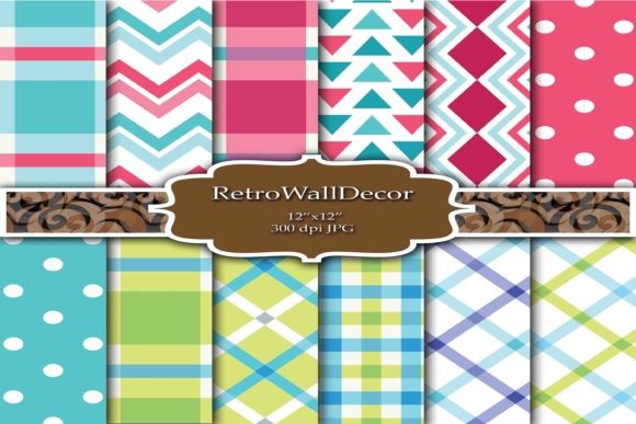 Print on Demand: Decoupage Papers Graphic Backgrounds By retrowalldecor