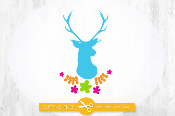 Download Free Pretty Cuttables Deer Cut Files Grafico Por Prettycuttables for Cricut Explore, Silhouette and other cutting machines.