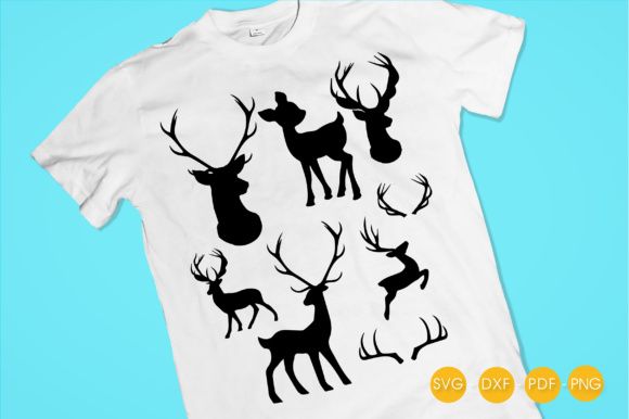 Deer Silhouettes Graphic Download