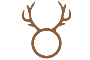 Deer Monogram Frame Craft Design By Creative Fabrica Crafts