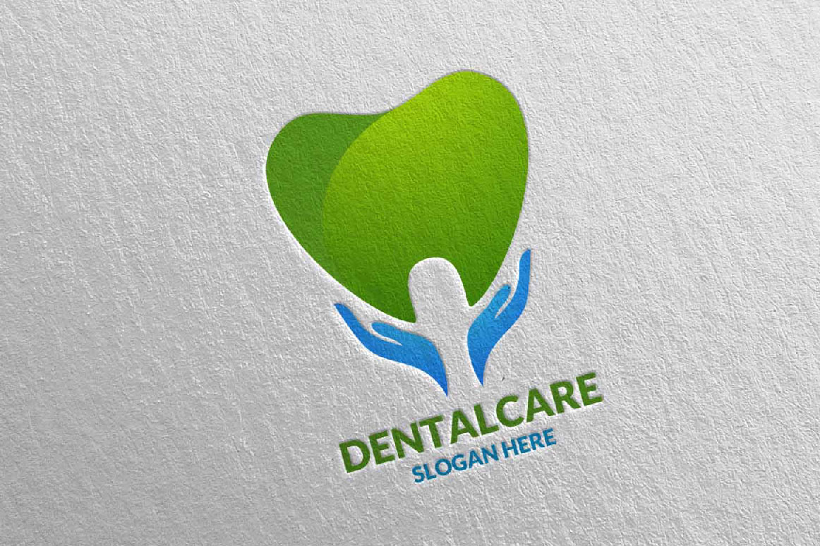 Download Free Dental Logo Dentist Stomatology Logo Design 17 Graphic By for Cricut Explore, Silhouette and other cutting machines.