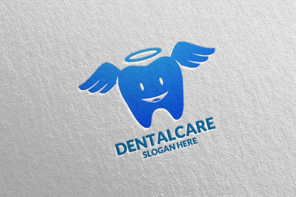 Download Free Dental Logo Dentist Stomatology Logo Design 21 Graphic By for Cricut Explore, Silhouette and other cutting machines.