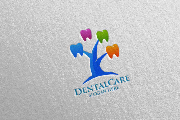 Download Free Dental Logo Dentist Stomatology Logo Design 22 Graphic By for Cricut Explore, Silhouette and other cutting machines.