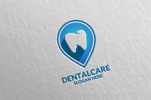 Download Free Dental Logo Dentist Stomatology Modern Tooth Design Graphic By for Cricut Explore, Silhouette and other cutting machines.