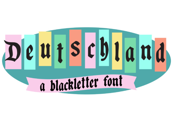 Print on Demand: Deutschland Blackletter Font By Illustration Ink