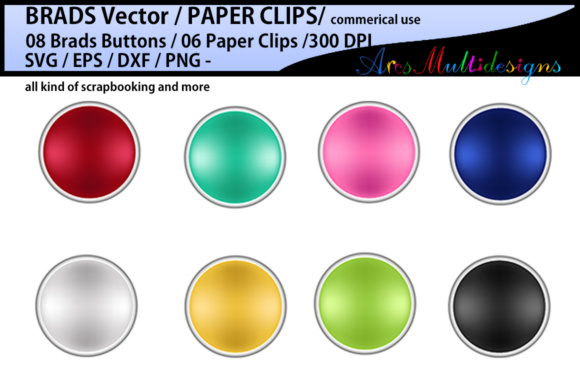 Download Free Digital Brads Vector Graphic By Arcs Multidesigns Creative Fabrica for Cricut Explore, Silhouette and other cutting machines.